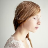 "Birdcage Veil Ivory 12"" French Netting"