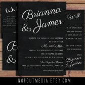 Chalkboard simple invitation suite - rustic chalkbhoard style