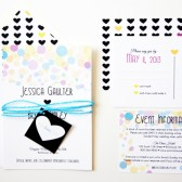 Neon Heart Wedding Invitations