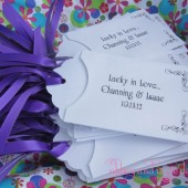 Lottery Wedding Favors