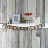 She Said Yes Wedding Banner Decorations