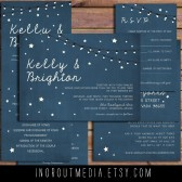 Starry Nights Rustic Invitation Suite