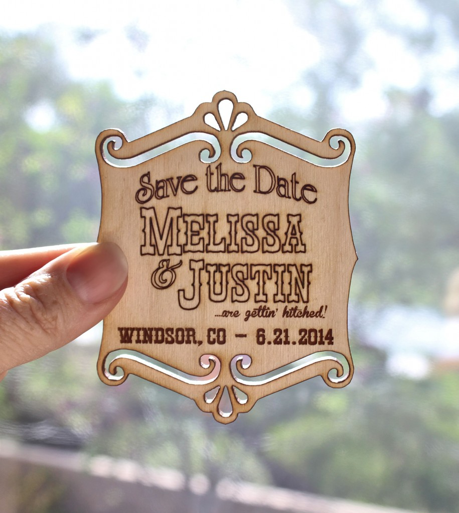 Laser Cut Rustic Save the Dates