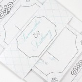 Diamond wedding invitation with flourishes – Samantha Collection