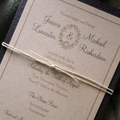 Rustic Acorn Invitation Set