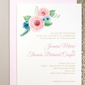 Watercolor Flower Invites