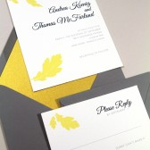 Oak Leaves Invitation Set