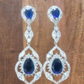 Gracie Sapphire Wedding Earrings