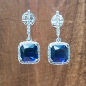 Hannah Sapphire Wedding Earrings