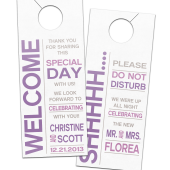 Modern Bold Privacy Door Hangers