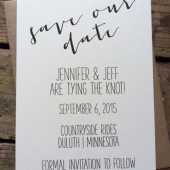 Rustic Save the Date Invitation