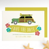 Vintage Car Surf Save The Date