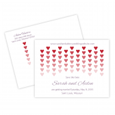 Save the Date Postcard: Hearts