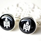 Rocket Ship Cufflinks NASA