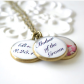 Mother of the Groom 3 Pendant necklace