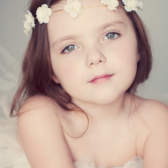 Little Angel Flower Girl - gold filled twine and pearl flowers
