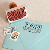Just Married Address stamp