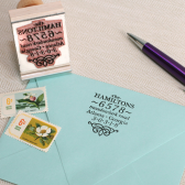 Vintage Address stamp