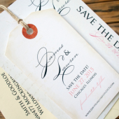 Written Save the Date Tags