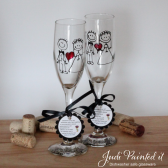 Stick figure Bride and Groom