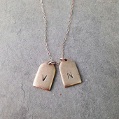 Mini personalized double tag Necklace
