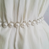 Bridal Pearl Rhinestone Belt, Pearl Wedding Belt, Sash for Wedding Dress, Wedding Accessory, Bridal Accessories, Belt Weddings, Bridal Belt