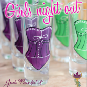 Corset shot glasses