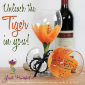 Tiger Lilly wine glass