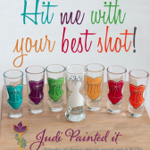 Corset bachelorette shot glasses