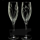 Sea Grass Champagne Glasses, Beach Wedding