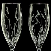 Sea Grass Champagne Flutes, Beach Wedding