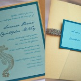 Formal Seaside Pocketfold Invitation Set