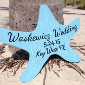 Seastar Wedding Beach Sign