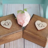 Set of Monogram Ring Boxes