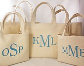 Set of 7 - Personalized Bridesmaids Tote Bag Set