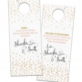 Confetti Polka Dot Wedding Door Hanger – Shayla Collection
