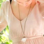 Sheer Ivory Flower Necklace
