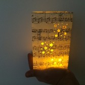 Sheet Music Luminary, Luminary Bags, Music Wedding, Wedding Lanterns