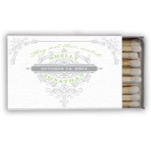 Shelly – Vintage Flourish Personalized Wedding Matches