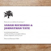 Silhouette Printable Wedding Invitation