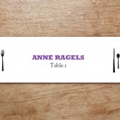 Silhouette Printable Place Card