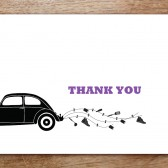 Silhouette Printable Thank You Card