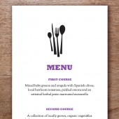 Silhouette Printable Wedding Menu