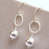 Newbury Silver Bridal Earrings