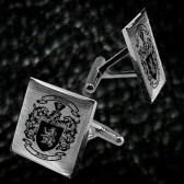Sterling silver Coat of Arms cuff links