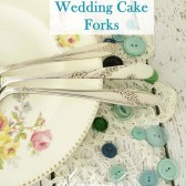 Custom Stamped Wedding Cake Forks
