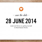 Simple Heart Printable Save The Date