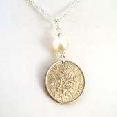 UK Sixpence Bridal Necklace