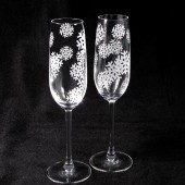 Snow Toasting Flutes, Winter Wedding