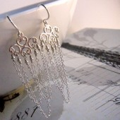 Sophia Bridal Chandelier Earrings